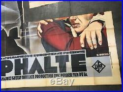Affiche de cinéma originale Asphalte 1929