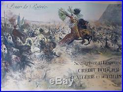 Affiche emprunt Crédit foncier d'algérie Affiche coloniale WW1 N°4/6