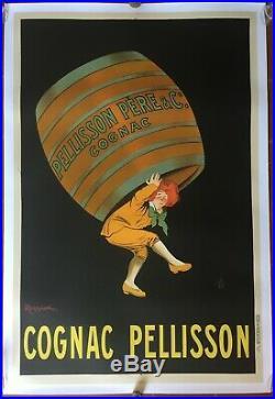 Affiche entoilée COGNAC PELLISSON par Leonnetto Cappiello 80x120cm 1907