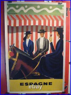 Affiche entoilée Georget Espagne 1955