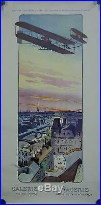 Affiche expo 1900 1914 triomphe vitesse avion aviation