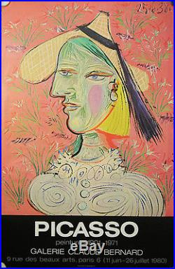 Affiche expo Picasso, Galerie Claude Bernard Paris 1980, Peintures 1901-1971