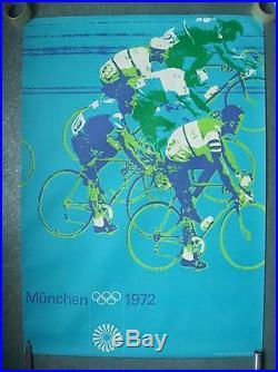 Affiche jeux olympiques JO München Munich 1972 Olympische sport cyclisme vélo