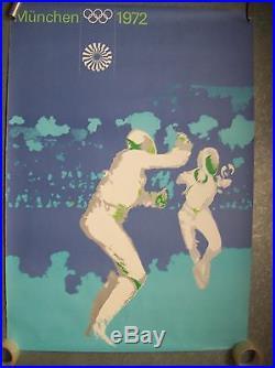 Affiche jeux olympiques JO München Munich 1972 Olympische sport escrime fencing