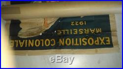 Affiche litho L. CAPPIELLO expo coloniale Marseille 1922 à restaurer