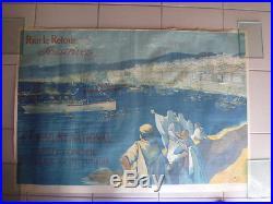 Affiche litho Pour le retour, souscrivez. 4e Emprunt National. Devambez 1918