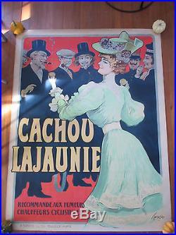 Affiche lithographiée originale Cachou Lajaunie par Tamagno (1905)