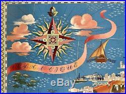 Affiche lithographiée Le Maroc par Lucien Boucher / Imp Perceval