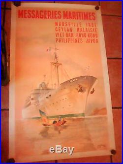 Affiche messageries maritimes des années 1950 edita paris Jean des Gaschons