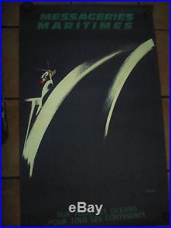 Affiche messageries maritimes des années 1950 lefort