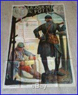 Affiche militaire guerre 14-18 journée du poilu 80×120