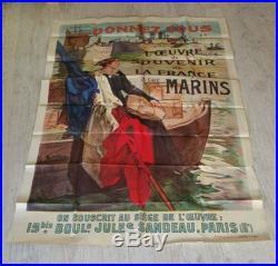 Affiche militaire guerre 14 18 marins 100x138