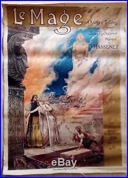 Affiche opéra originale Le Mage Richepin Massenet