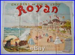 Affiche original ROYAN Chemins de fer de l'Etat Léo Maxy Année 1896