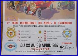 Affiche originale 1967 6ème Coupe des musées 24 Heures du Mans ACO Maurice DARD