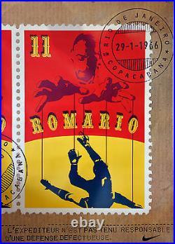 Affiche originale 1998 Coupe du monde Nike park -ROMARIO 115 x 163 cm