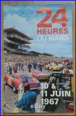 Affiche originale 24 heures du Mans 1967