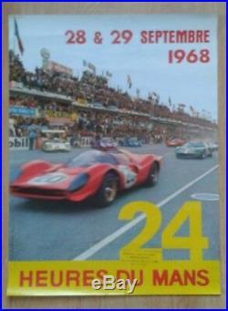 Affiche originale 24 heures du Mans 1968