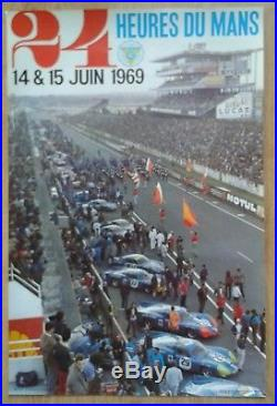 Affiche originale 24 heures du Mans 1969