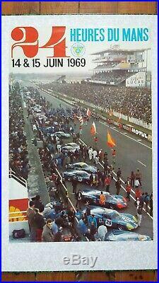 Affiche originale 24H du Mans 1969 (ACO)