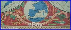 Affiche originale AIR FRANCE 1952, LUCIEN BOUCHER fifties compagnie aérienne pub