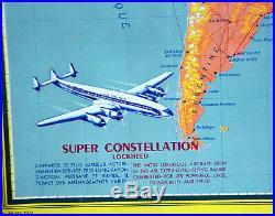 Affiche originale AIR FRANCE Perceval Super constelletion Vickers viscout