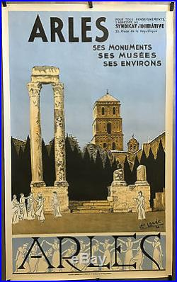 Affiche originale ARLES Ses Monuments, ses Musées, ses Environs par Léo LELÉE