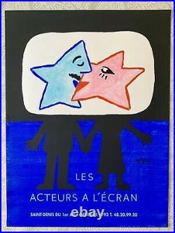 Affiche originale Acteurs à lécran 1993 Raymond Savignac