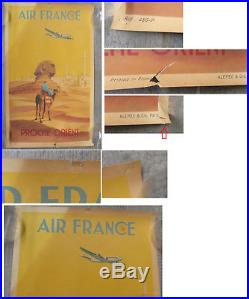 Affiche originale Air France Proche Orient 1950 Egypte