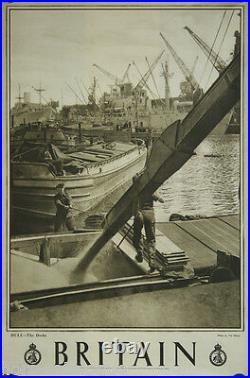 Affiche originale, Britain, Hull, the Docks. Par Val Doone. ImpJarrold & Sons