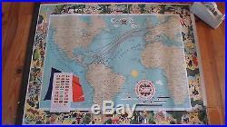 Affiche originale Compagnie générale transatlantique E Collin 1959