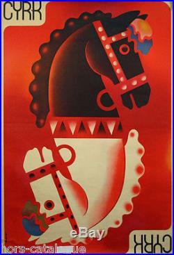 Affiche originale Cyrk, par Ruminsky, cirque, Pologne