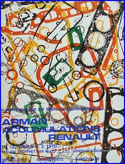 Affiche originale ENTOILÉE -ARMAN Accumulations RENAULT