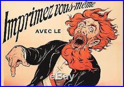 Affiche originale Eugène Ogé Imprimante Gestetner Pelletan Paris 1898
