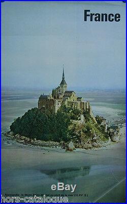 Affiche originale, France, Normandie, Le Mont-St-Michel au peril de la mer. 1962
