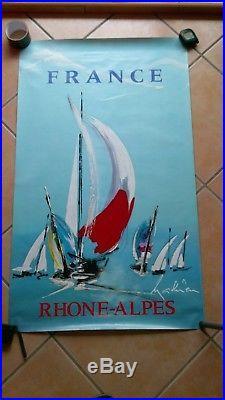 Affiche originale France Rhone alpes par Mathieu n 2