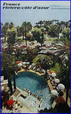 Affiche originale, France Riviera Cote d Azur. Photo couleur Fronval, 1967