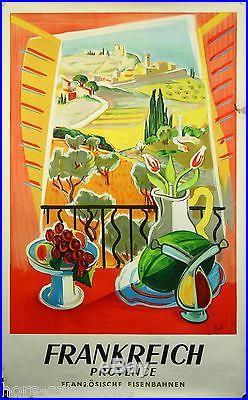 Affiche originale, Frankreich Provence, SNCF. Par Jal, 1959