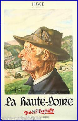 Affiche originale Haute Loire. France, Vellay, Auvergne. 1933