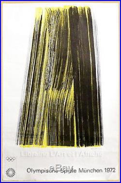 Affiche originale J. O. Hans HARTUNG, OLYMPISCHE SPIELE MUNCHEN 1972, Art Poster