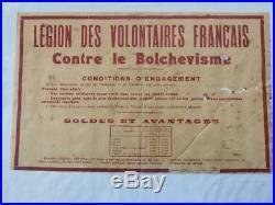 Affiche originale LEGION DES VOLONTAIRES FRANCAIS PROPAGANDE VICHY WW2
