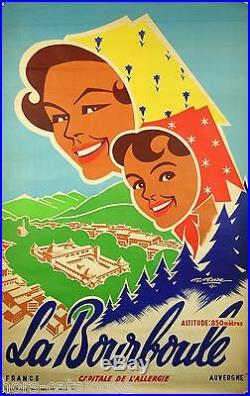 Affiche originale, La Bourboule, France, Par G. Gordes, 1957