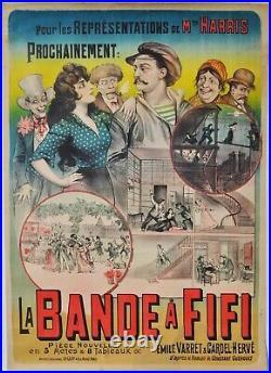 Affiche originale La bande à Fifi Ch. Levy Années 1900