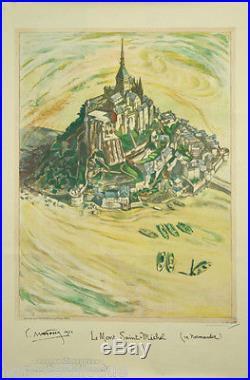 Affiche originale, Le Mont Saint-Michel, Normandie. Par C. Mafossy, 1934