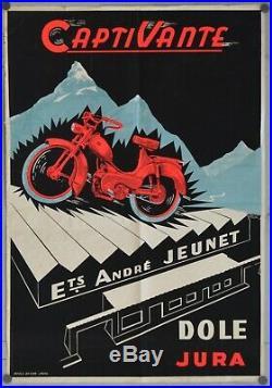 Affiche originale Mobylette CAPTIVANTE -76 x 52 cm