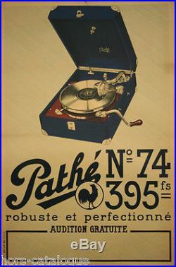 Affiche originale, Pathé n°74, robuste et perfectionné. Musique