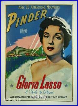 Affiche originale, Pinder présente Gloria Lasso, l'étoile du cirque, par Ruddy