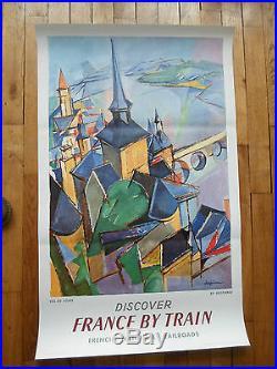 Affiche originale SNCF val de loir 1963 Despierre Perceval imp