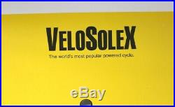 Affiche originale SOLEX VELOSOLEX world's most popular powered cycle