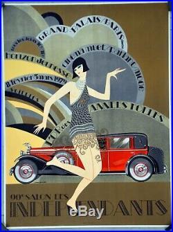 Affiche originale Salon des indépendants 1979 J Monneret 74 x 54 cm